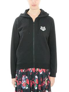 Kenzo-Tiger Crest  black cotton sweatshirt