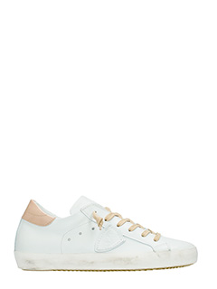 Philippe Model-Sneakers Classic in pelle  bianca beige
