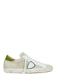 Philippe Model-Sneakers Classic in pelle  e camoscio beige