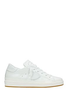 Philippe Model-Sneakers Lakers in pelle metal bianca
