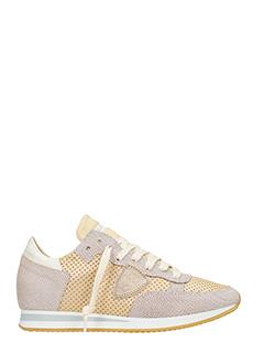 Philippe Model-Sneakers Tropez Vip in pelle e tessuto oro rosa champagne
