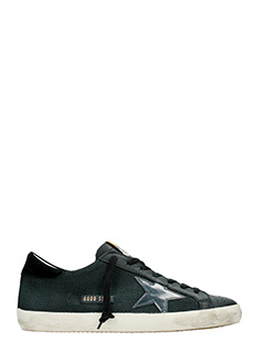 Golden Goose Deluxe Brand-Sneakers Superstar in pelle traforata nera