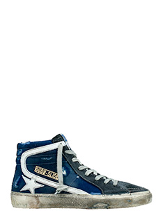 Golden Goose Deluxe Brand-Sneakers Slide in tessuto denim
