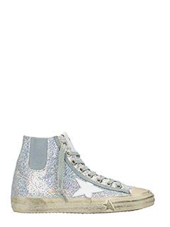 Golden Goose Deluxe Brand-Sneakers VStar in glitter argentp