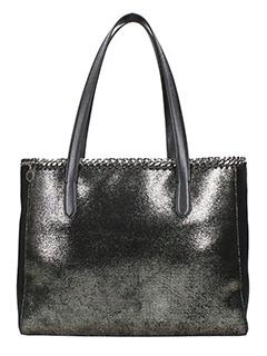 Stella McCartney-Borsa Tote Bag Falabella in shaggy deer ruthenium