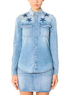 Givenchy-Camicia in denim azzurra