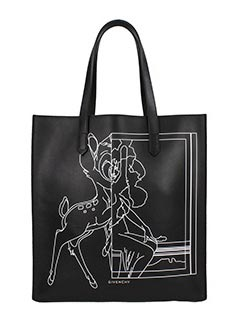 Givenchy-Borsa Stargate Medium Bambi n pelle nera