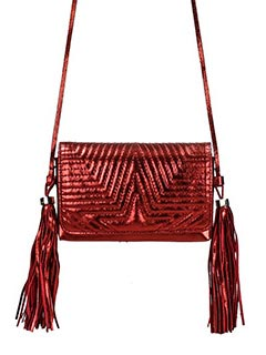 Golden Goose Deluxe Brand-Fanny red leather bag