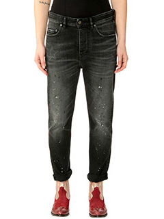 Golden Goose Deluxe Brand-Jeans Happy in denim nero