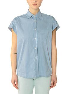 Golden Goose Deluxe Brand-Camicia Victoria in cotone a righe blue bianco