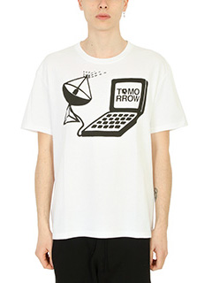 Stella McCartney-T-Shirt Tomorrow in cotone bianco