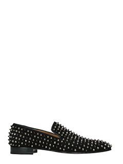 Christian Louboutin-Dandelion black suede loafers