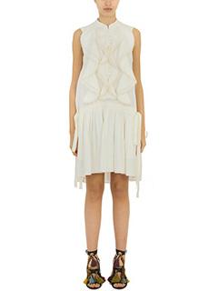 Chloé-Vestito in lino latte
