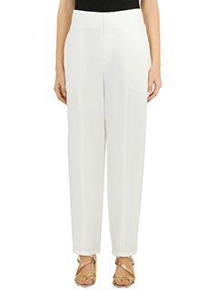 Chlo�-Pantaloni in cr�pe bianca