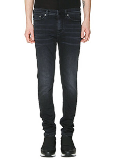 Neil Barrett-Jeans Super Skinny in denim nero
