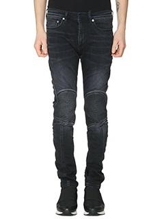 Neil Barrett-Jeans Biker in denim nero