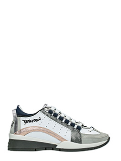 Dsquared 2-Sneakers 551 in pelle bianca