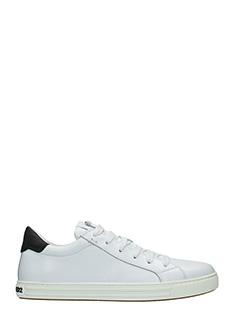 Dsquared 2-Sneakers Tennis Club in pelle bianca nera