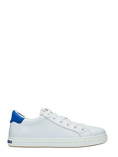 Dsquared 2-Sneakers Tennis Club in pelle bianca blue