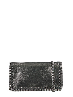 Stella McCartney-Falabella crosb silver polyester bag