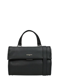 Balenciaga-Tool satchel black leather bag