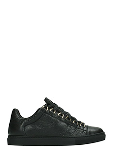 Balenciaga-Arena black leather sneakers