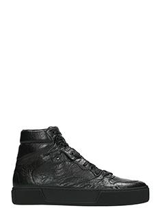 Balenciaga-black leather sneakers
