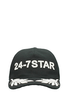 Dsquared 2-Cappello Allory in cotone nero