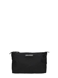 Dsquared 2-Pochette Hiro Toiletry in tessuto tecnico nero
