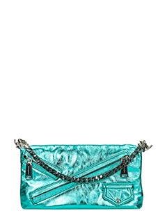 Dsquared 2-Pochette Babe Wire in pelle metal verde smeraldo