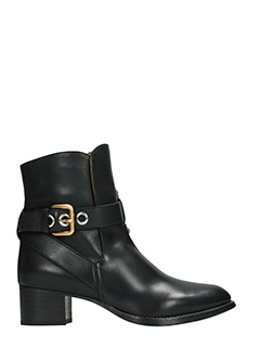 Chlo�-Max black leather ankle boots