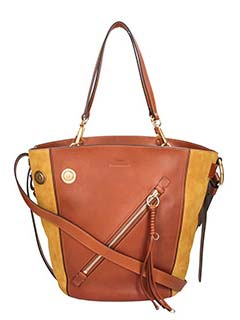 Chlo�-leather color leather bag