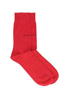 Balenciaga-red cotton socks