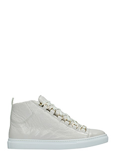 Balenciaga-Arena high white leather sneakers
