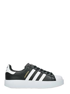 Adidas-Sneakers Superstar Bold in pelle nera bianca