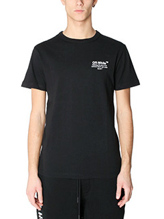 Off White-T-Shirt Off in cotone nero