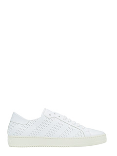 Off White-Sneakers Perforated in pelle bianca