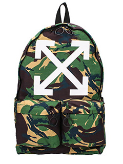 Off White-Zaino Arrows in cotone camouflage