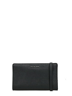 Michael Kors-black leather clutch