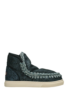 Mou-Stivali Eskimo Sneaker in shearling dust blue