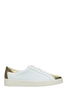 Michael Kors-Sneakers Frankie in pelle  bianca oro