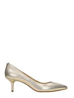 Michael Kors-Flex kitten pum gold leather pumps