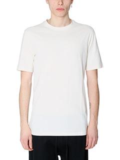 Helmut Lang-T-Shirt Standard Fit in cotone beige