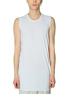 Rick Owens-Top Basic Sleeves in cotone milk