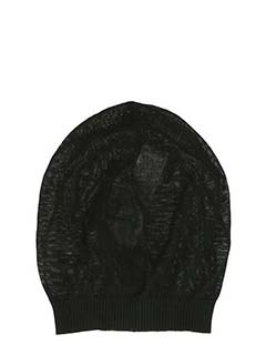 Rick Owens-Cappello Medium Hat in cotone nero
