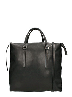 Rick Owens-Borsa Shoulder Bag in pelle nera