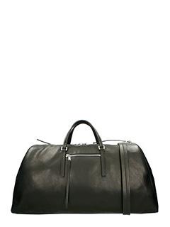 Rick Owens-Borsa Weekender Bag in pelle nera