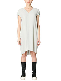 Rick Owens-Vestito Floating Tunic in viscosa dinge