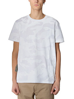 Valentino-T-Shirt Camouflage in cotone bianco