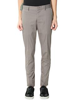 Lanvin-Pantaloni pence in cotone grigio